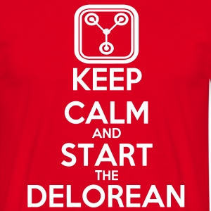 Keep Calm and start the Delorean T-Shirts - Männer T-Shirt