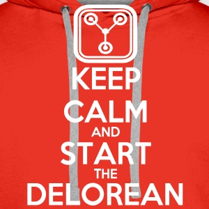Keep Calm and start the Delorean Pullover - Männer Premium Hoodie