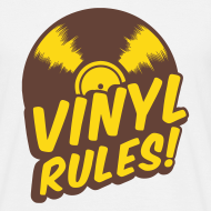 Motif ~ Vinyl Rules ! Tee-shirt Classique Homme