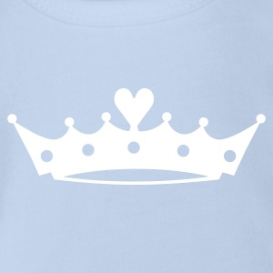 Crown with Heart Baby Bodysuits - Organic Short-sleeved Baby Bodysuit