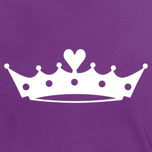 Crown with Heart EN T-Shirts - Frauen Kontrast-T-Shirt