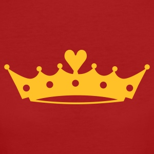 Crown with Heart T-shirts - Vrouwen Bio-T-shirt