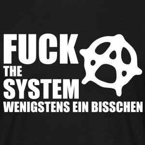 fuck_the_system_2 T-shirts - Mannen T-shirt