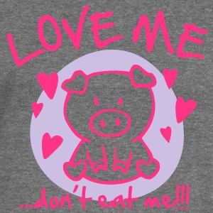 Love me, don't eat me Hoodies & Sweatshirts - Women's Boat Neck Long Sleeve Top