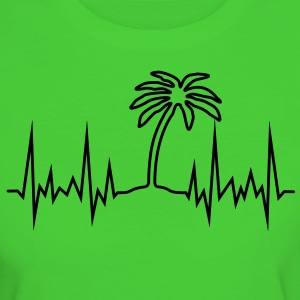 Wave-Palme T-Shirts - Frauen Bio-T-Shirt