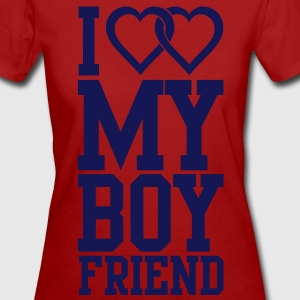 I love my Boyfriend T-Shirts - Frauen Bio-T-Shirt