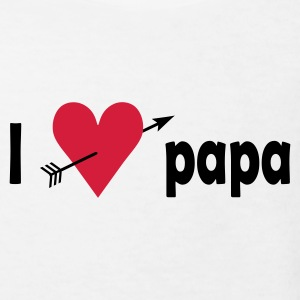 I love papa Barn-T-shirts - Ekologisk T-shirt barn