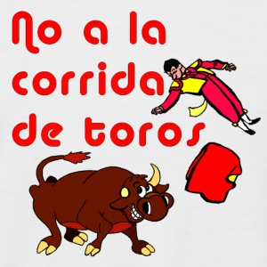 No to Bullfighting - T-shirt Man - Men's Baseball T-Shirt