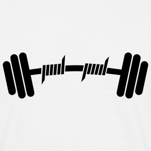 Fitness | Body Building | Hantel | Dumbbell - T-shirt herr