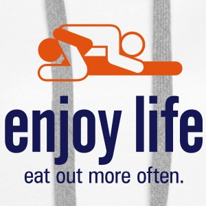 Enjoy Life 5 (2c)++ Sweat-shirts - Sweat-shirt à capuche Premium pour femmes