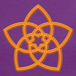 Venus Flower - FLOWER OF LOVE, digital orange, symbol of love, balance and beauty T-Shirts - Women's Ringer T-Shirt