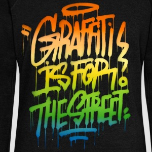 graffiti is for the street Hoodies & Sweatshirts - Women's Boat Neck Long Sleeve Top