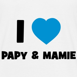 I Love Papy & Mamie T-Shirts - Men's T-Shirt