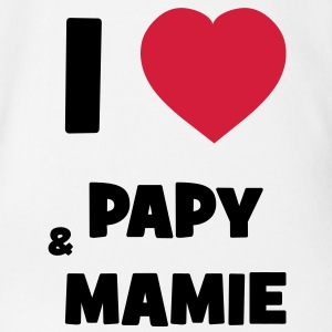 I Love Papy & Mamie Shirts - Organic Short-sleeved Baby Bodysuit