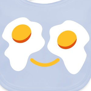 FRIED egg face sunny side up eggs for eyes Accessories - Baby Organic Bib