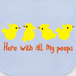 EASTER greeting here with all my PEEPS cute party Accessories - Baby Organic Bib