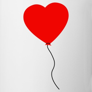 Love Heart Balloon Muggar - Mugg