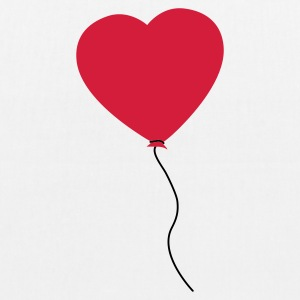 Love Heart Balloon Bags  - EarthPositive Tote Bag