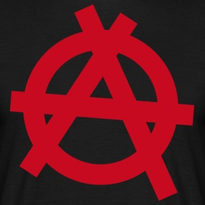 Anarchy red symbol - Men's T-Shirt