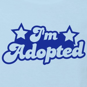 I'm adopted! super cute font with stars  Shirts - Kids' Organic T-shirt
