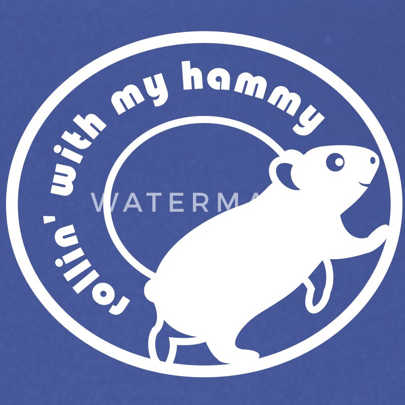 Rollin 'With My Hammy' Hamster Wheel ' - Paraplu (klein)