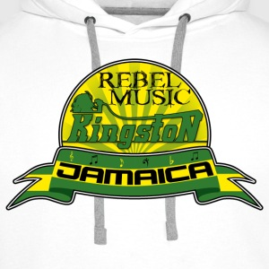 rebel music kingston jamaica Tröjor - Premiumluvtröja herr