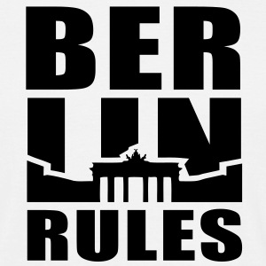 BERLIN RULES Brandenburger Tor T-Shirt UNI BW - T-shirt Homme