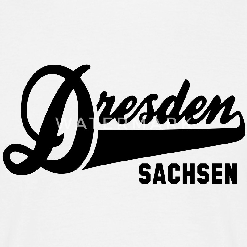 CITY Dresden SACHSEN T-Shirt BW - Men's T-Shirt