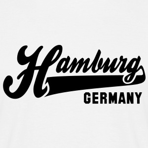 CITY Hamburg GERMANY T-Shirt BW - Men's T-Shirt