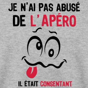 abuse alcool apero consentant smiley1 Sweat-shirts - Sweat-shirt Homme