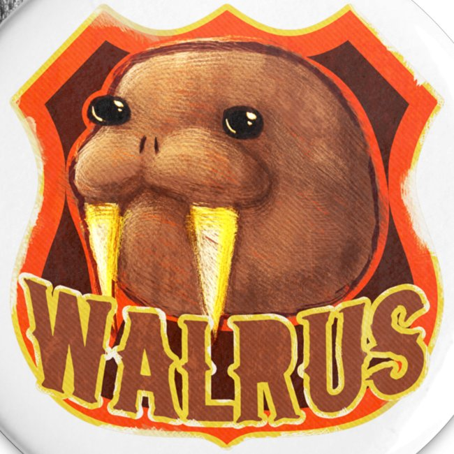 Walrus Shield Large Button