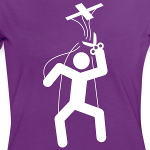 The free puppet T-Shirts - Women's Ringer T-Shirt