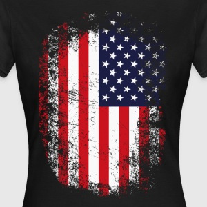 FLAG USA GRUNGE LOOK T-Shirts - Frauen T-Shirt