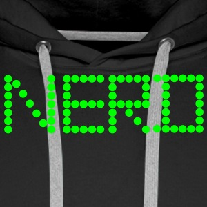 Nerd LED Nerds Freak lettrage - Sweat-shirt à capuche Premium pour hommes