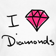 Ontwerp ~ I Love Diamonds - Neon pink