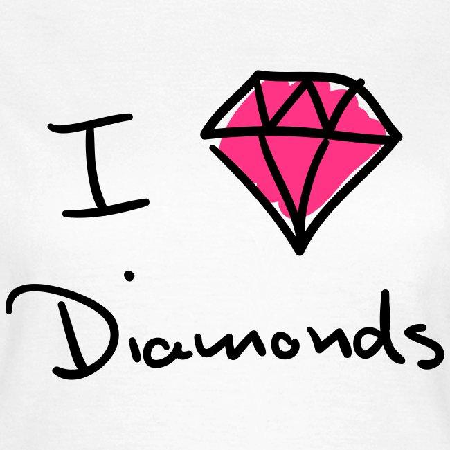 I Love Diamonds - Neon pink