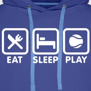 Eat Sleep Play Tennis Sweat-shirts - Sweat-shirt à capuche Premium pour hommes