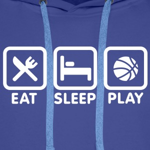 Eat - Sleep - Play Basketball Sweat-shirts - Sweat-shirt à capuche Premium pour hommes