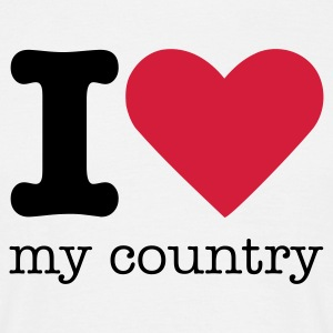 I Love My Country T-shirts - Herre-T-shirt