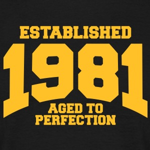 aged to perfection established 1981 (fr) Tee shirts - T-shirt Homme