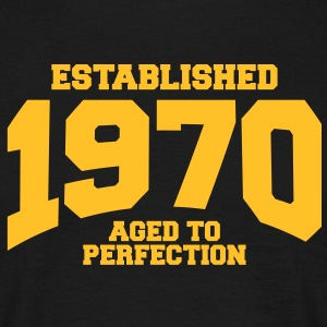aged to perfection established 1970 (dk) T-shirts - Herre-T-shirt
