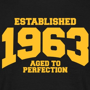 aged to perfection established 1963 (sv) T-shirts - T-shirt herr