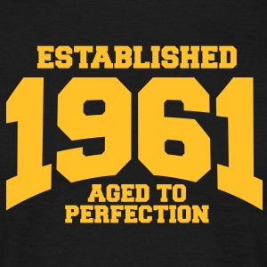 aged to perfection established 1961 (dk) T-shirts - Herre-T-shirt
