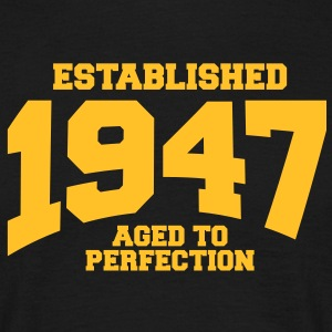 aged to perfection established 1947 (uk) T-Shirts - Men's T-Shirt