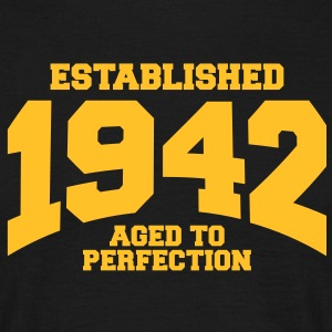 aged to perfection established 1942 (sv) T-shirts - T-shirt herr