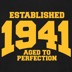aged to perfection established 1941 (sv) T-shirts - T-shirt herr