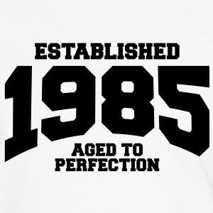 aged to perfection established 1985 (dk) T-shirts - Herre kontrast-T-shirt