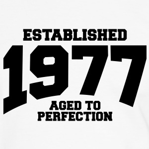 aged to perfection established 1977 (no) T-skjorter - Kontrast-T-skjorte for menn