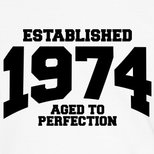 aged to perfection established 1974 (nl) T-shirts - Mannen contrastshirt
