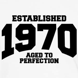 aged to perfection established 1970 (fr) Tee shirts - T-shirt contraste Homme